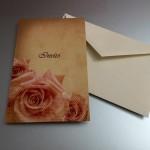 Invito Rose personalizzabile, con busta 2,00 euro cad